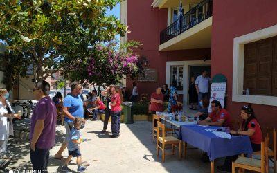 14-6-2020 ημέρα εθελοντή αιμοδότη και ο σύλλογος Θαλασσαιμίας παρευρέθηκε στην εθελοντική Αιμοδοσία του Αιματοκρίτη στις Αρχάνες